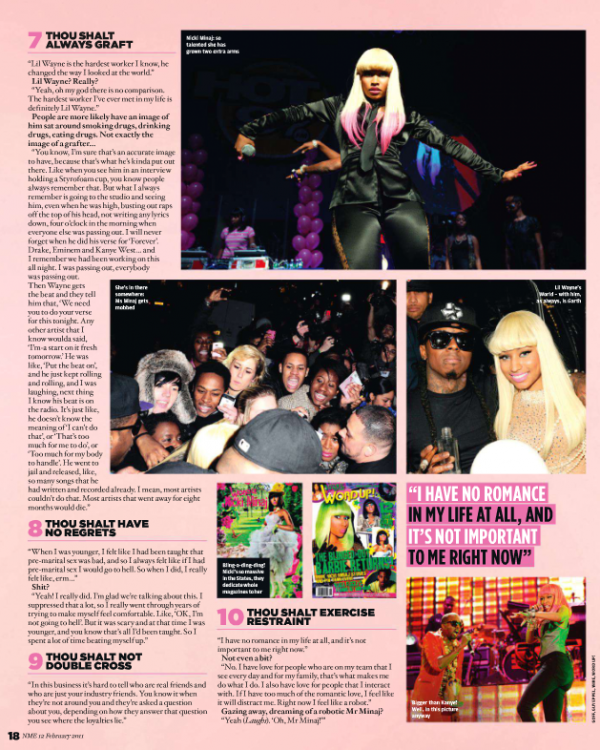 NICKI MINAJ IN NME MAGAZINE