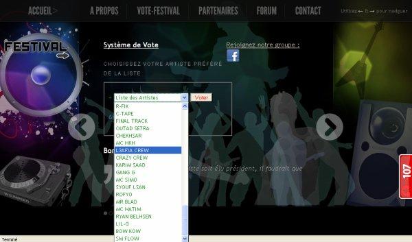 """vote pour """"l3afia crew"""" sur le lien http://www.festival2nord.com/home.php"""