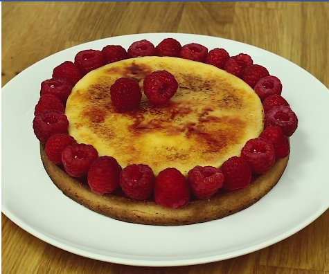 Tarte crème brûlée-framboise :)