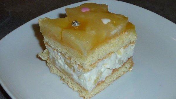 Gâteau bavarois a l'ananas