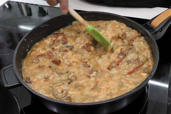 Omelette de pomme de terre au riojana