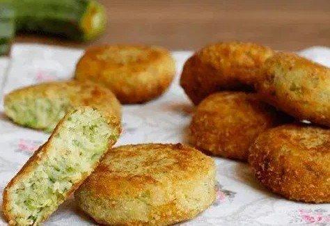 Beignets  De  Courgettes et de  pommes de terre