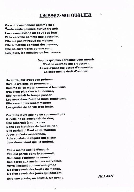 Blog De Memoiralzheimer Page 74 Le Jour Où Les Pensées
