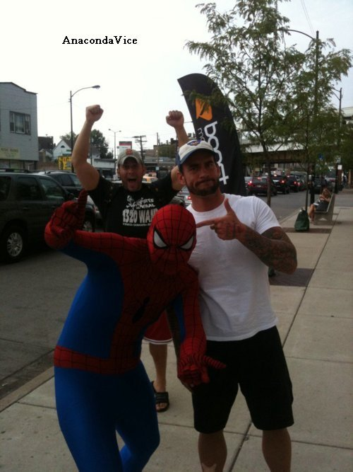 @CMPunk On RAW - Cliff Compton - Punky & Cabana - Pics of Punk, Colt & Spiderman!