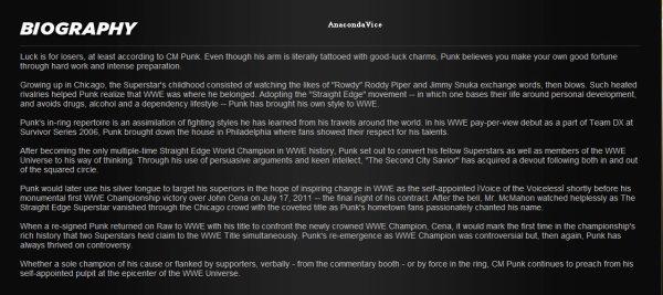 CM Punk Dans Le WWE 12