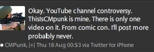 Storyline Punk-Nash - Vraie Page Youtube de Punk