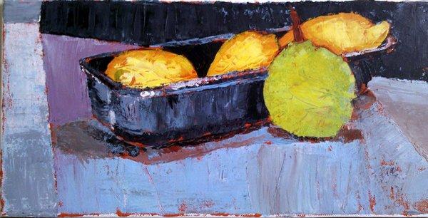 nature morte aux citron, poire