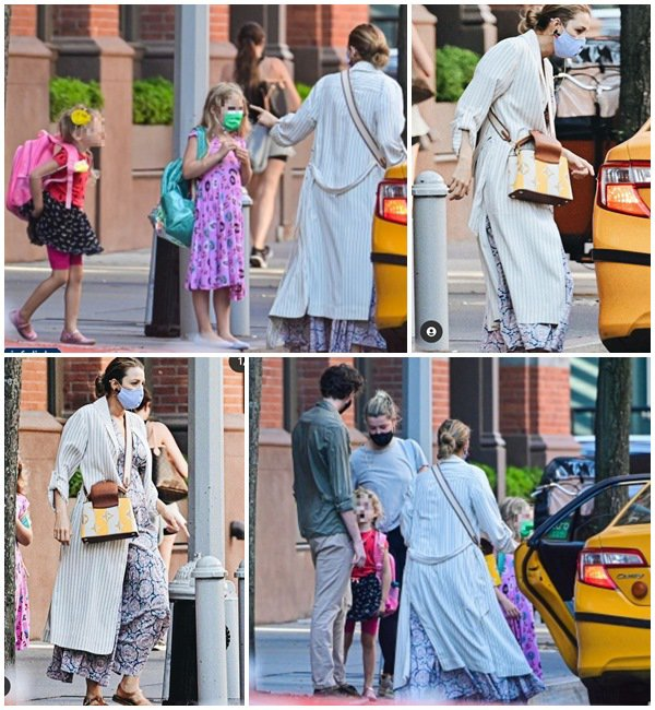 27 Mai 2021 - Blake a été vue sortant de chez elle avec ses enfants