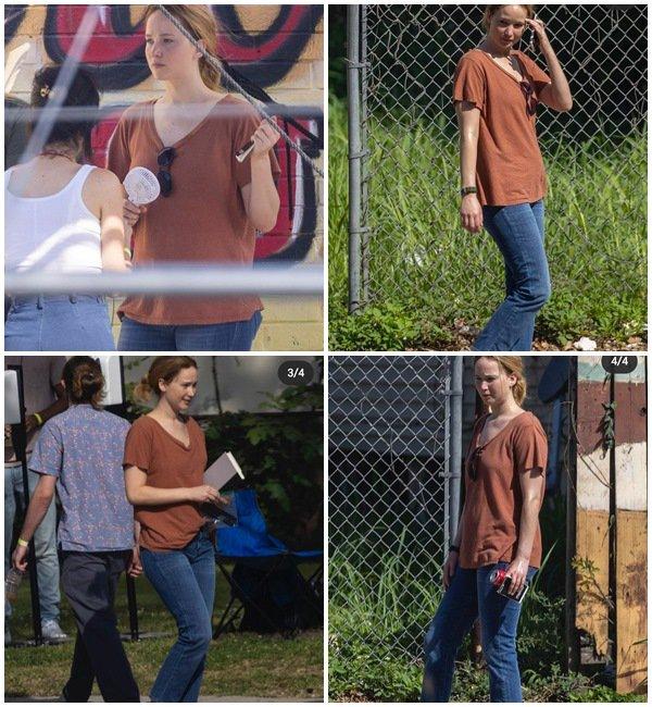 6 Juin 2021 - Jennifer était sur le tournage du film Red White and Water