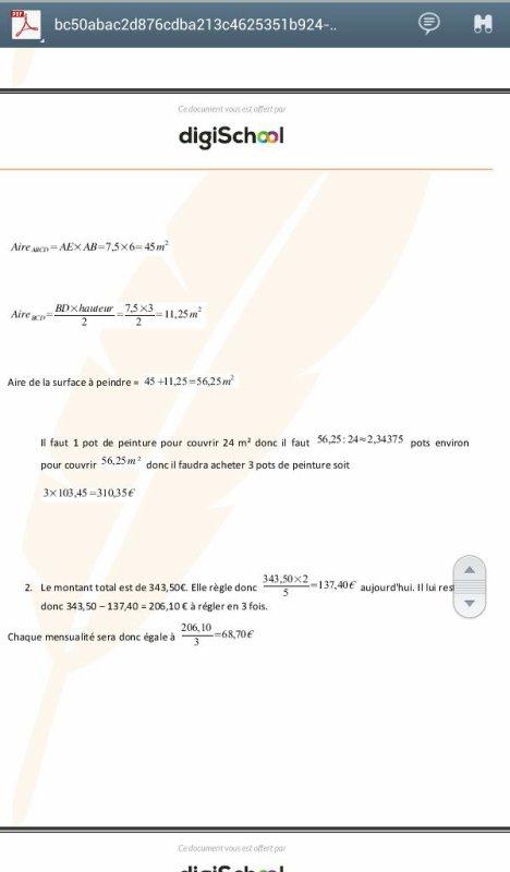 corrigé brevet de maths 2015