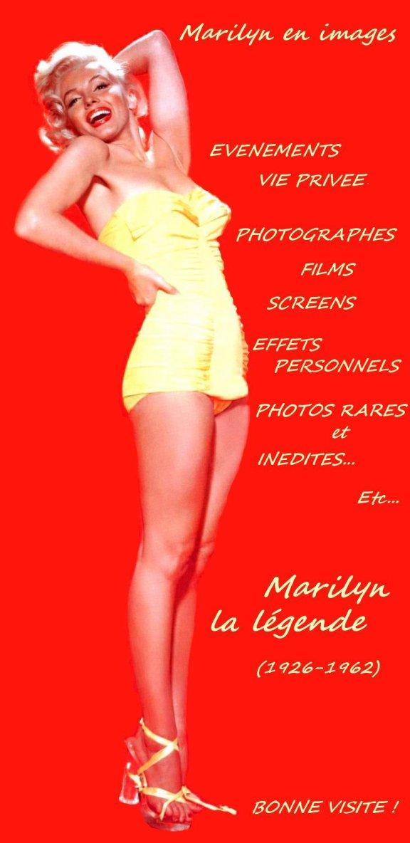 """EN CLIQUANT SUR LA PHOTO CI-DESSOUS, VOUS TROUVEREZ MON AUTRE BLOG SUR MARILYN (CLIC on RARE COLOR CANDID PICTURE for VISIT my NEW Marilyn MONROE blog)..."""" - Je comprends maintenant les problèmes que vous pouvez avoir, Marilyn. Vous émettez réellement des vibrations sexuelles - quoi que vous soyez en train de faire ou de penser. Le monde entier a déjà réagi à ces vibrations. Elles sont retransmises par les écrans de cinéma quand vous y apparaissez. Et vos grands patrons ne s'intéressent qu'à vos vibrations sexuelles. Elles suffisent à leur rapporter une fortune. Voilà pourquoi ils refusent de vous considérez comme une comédienne. Tout ce qu'ils veulent, c'est tirer parti du stimulant sexuel que vous représentez. Leurs motifs et leurs projets sont très clairs."""" (""""Confessions inachevées"""" de Marilyn)."""