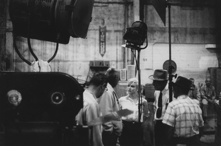 """1960 / by Erich HARTMANN (on the set of """"The misfits"""")."""