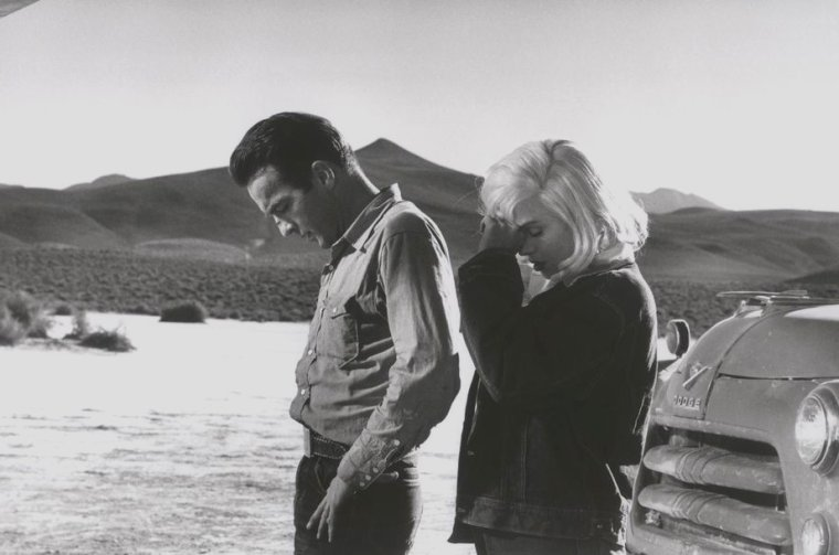 "1960 / by Eve ARNOLD... On the set of ""The misfits""."