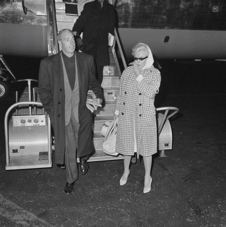 1961 / Marilyn et Joe de retour d'un séjour en Floride à New-York...