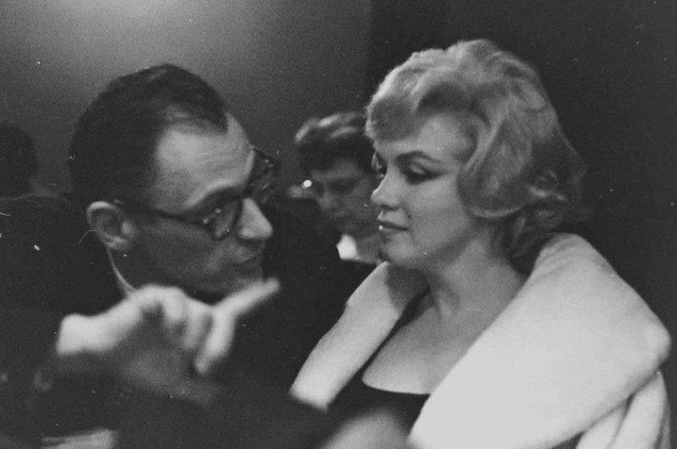"""1959 / by Gjon MILI... 10 Février, Marilyn et Arthur assistent à une représentation de """"Macbeth"""" au """"Metropolitan Opera"""" de New-York."""