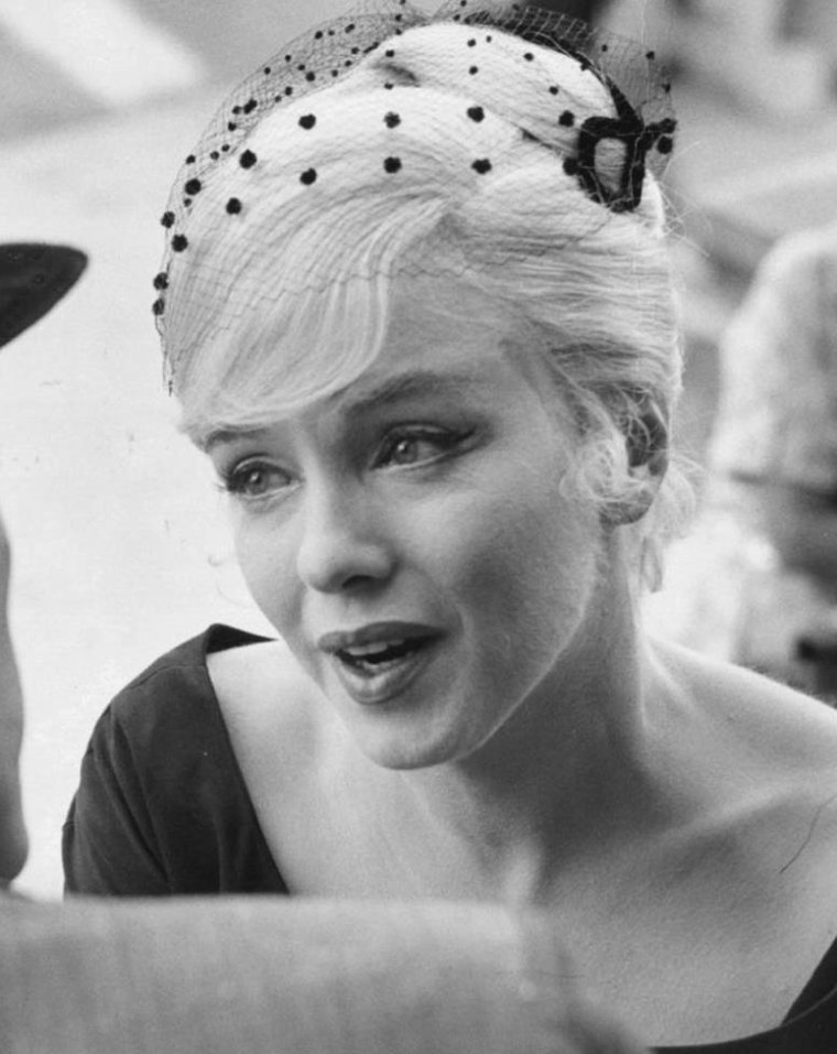 "1960 / Marilyn lors du tournage du film ""The misfits""."