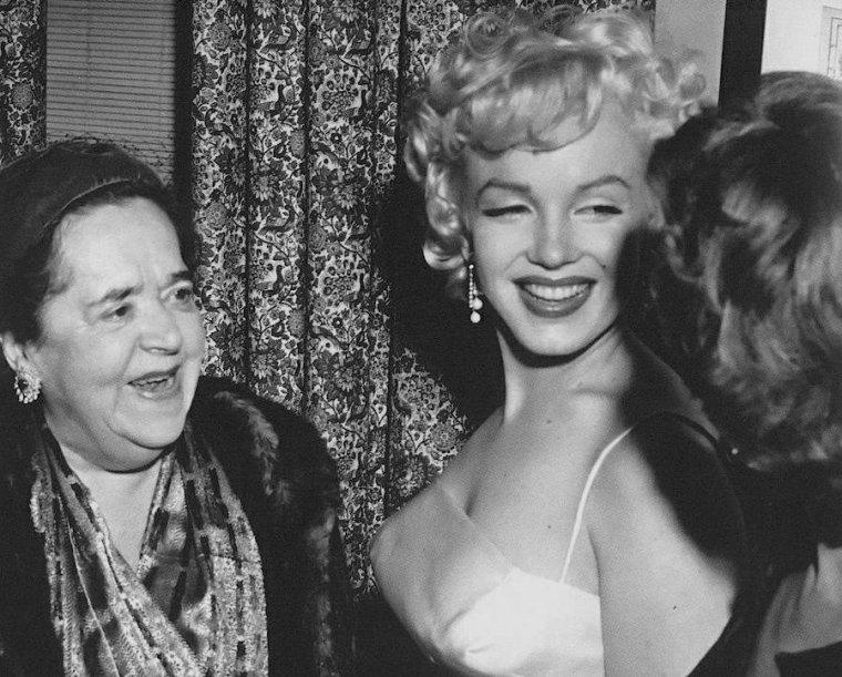 """1955 / Marilyn annonce à la presse la création des """"Marilyn MONROE Productions"""" avec pour associé, Milton GREENE (part 2, voir TAG)."""