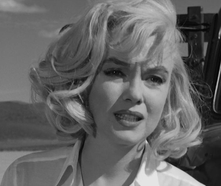 """1960 / Mes captures d'écran de Marilyn dans l'une des scènes du film """"The misfits""""."""