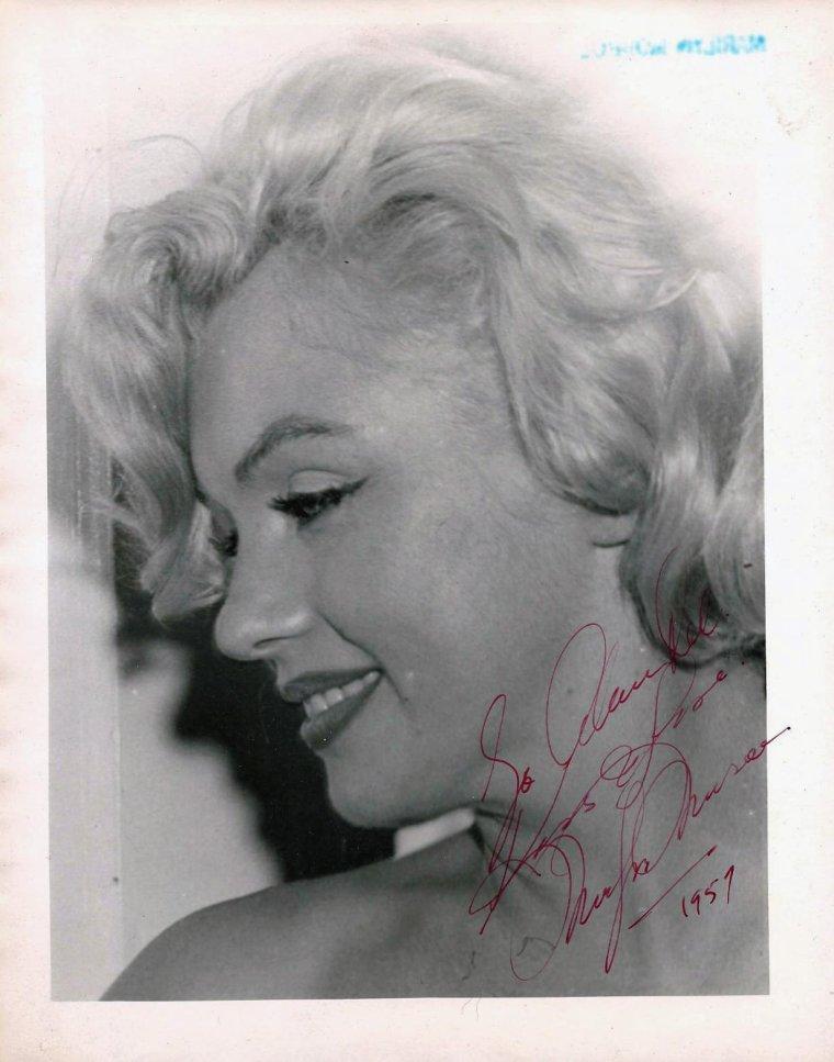 1959 / Autographe de Marilyn...