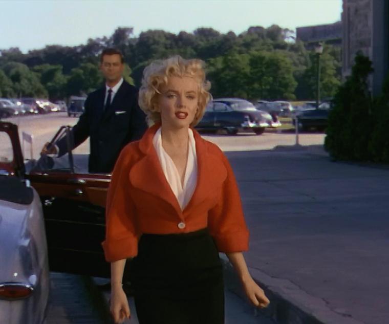 """1952 / Mes captures d'écran de Marilyn dans l'une des scènes du film """"Niagara""""."""