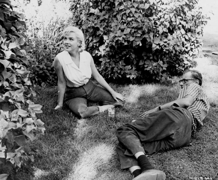 1960    marilyn et miller lors du tournage du film  u0026quot the misfits u0026quot        tournage cauchemardesque