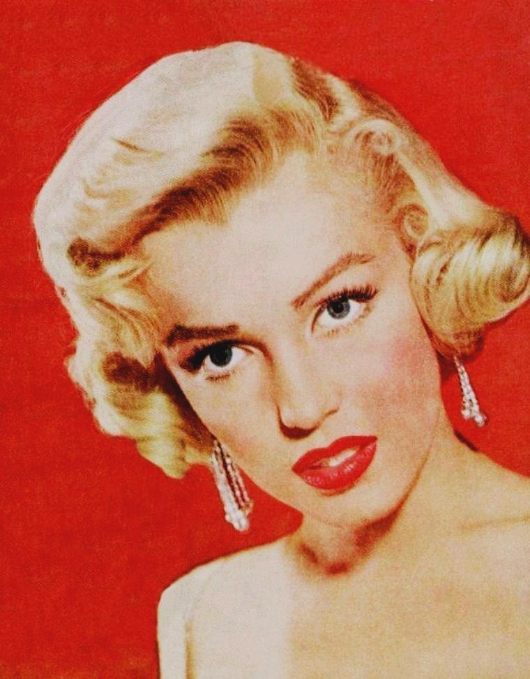 """1953 / Portrait publicitaire pour le film """"How to marry a millionaire"""", by John FLOREA."""