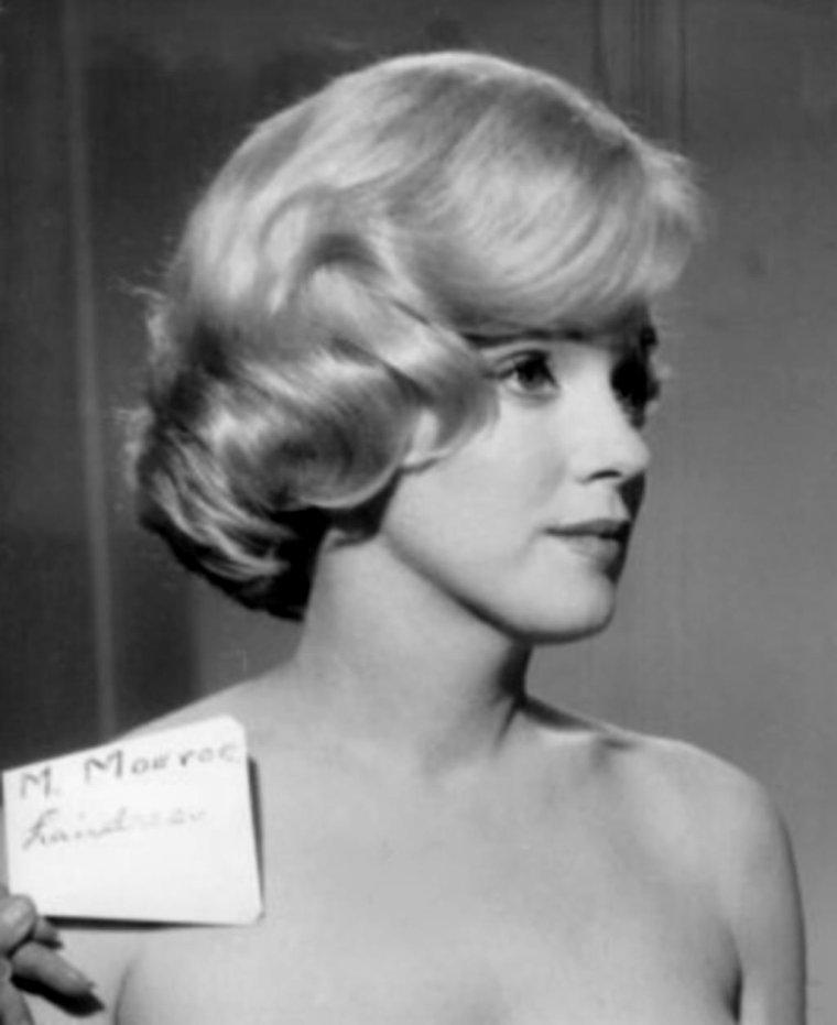 """1960 / Essais coiffures pour le film """"Let's make love"""". (part 2, voir TAGS)."""