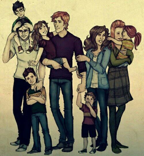 La famille Potter/Weasley