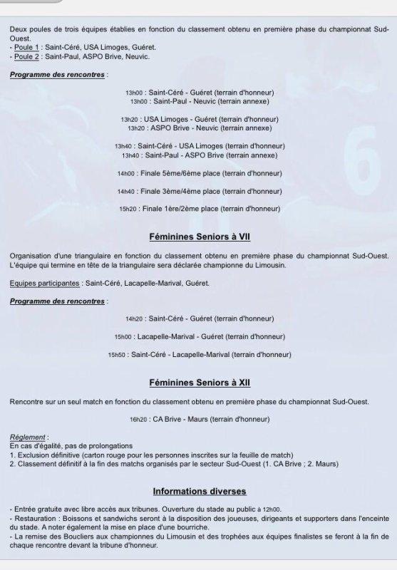 Le rugby fémini à l'honneur samedi 24 mai à St Céré