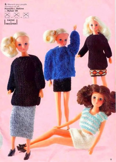 VETEMENTS POUR BARBIE AU TRICOT.