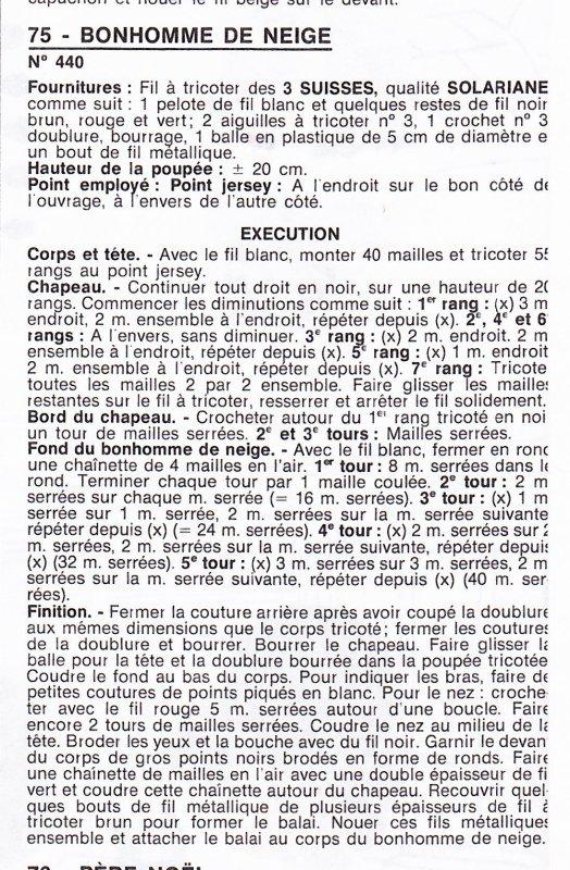 BONHOMMES DE NEIGE AU TRICOT.
