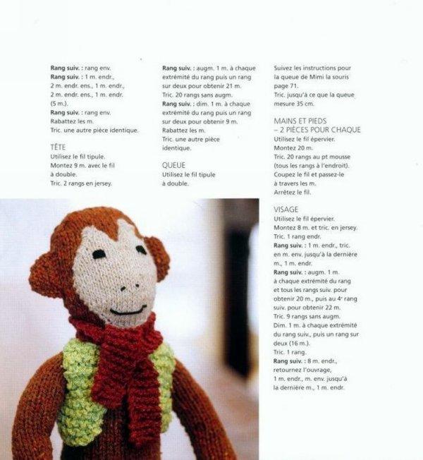 modele tricot gratuit singe