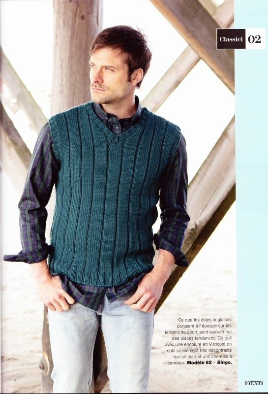 PULL HOMME AU TRICOT.
