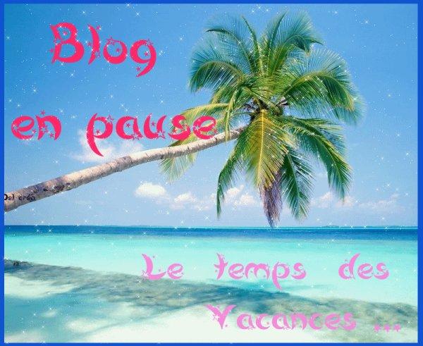 BLOG EN PAUSE.           VACANCES!!!!!