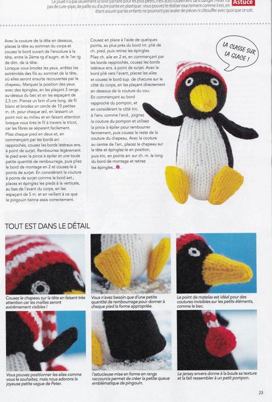 UN PINGOUIN AU TRICOT.