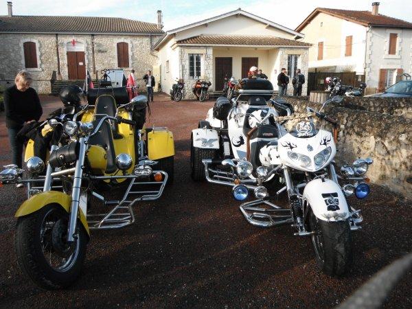 rallye touristique motos autos en Périgord pourpre
