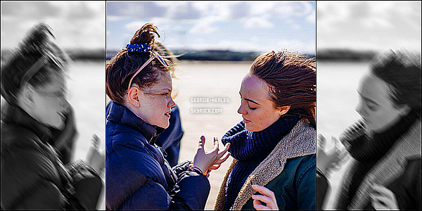 .  PREMIERE PHOTO DE GEORGIE SUR LE TOURNAGE DE SON COURT-METRAGE : « TIDE ».______- .