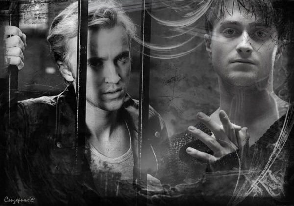 Black & White sexxxxy Drarry !