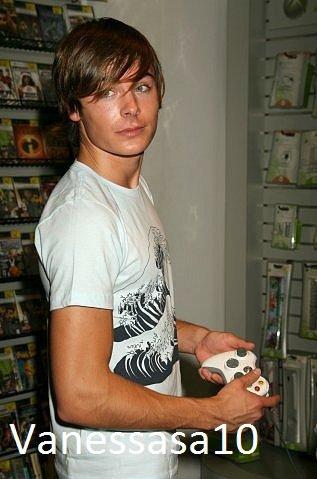 Zac efron aime les jeux vidéo