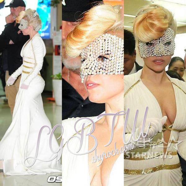 20/04/12 : Gaga arrivée  en Corée