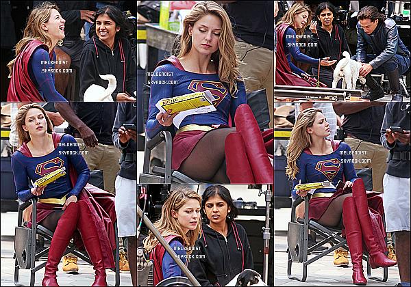 * 14/08/18 :    Melissa a été repérée alors qu'elle se trouvait sur le tournage de la série « Supergirl » - dans Vancouver. Melissa est superbe. Elle a l'air de bien s'amuser. Melissa porte son costume pour la série, ça faisait un moment qu'on ne l'avait pas vu le porter. Un Top.  *