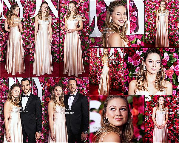 * 10/06/18 :    Melissa a assisté à la 72ème édition de la cérémonie des « Tony Awards » qui avait lieu dans New York. Melissa B. était magnifique. Je suis complètement fan de sa coiffure et de son maquillage. La robe qu'elle porte est très jolie. C'est un beau Top pour moi  *