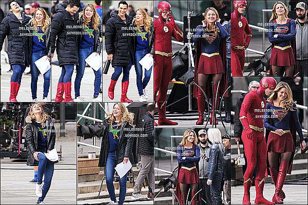 * 23/10/18 :    Melissa B. a été aperçue sur le tournage de la saison 4 de la série « Supergirl » à Vancouver, au Canada. Melissa tournait une scène avec Grant Gustin et Stephen Amell. Elle est très belle et à l'air de bien s'amuser. J'aime bien la tenue qu'elle porte. Donc Top.  *