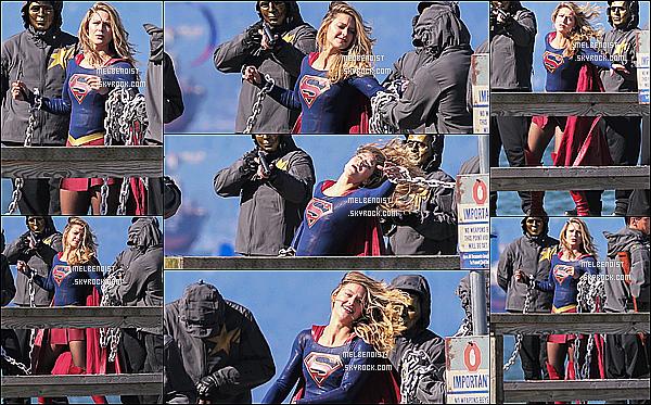 * 27/09/18 :    Melissa a été répérée alors qu'elle était sur le tournage de la série « Supergirl » à Vancouver, au Canada. Melissa a quitté la France et est de retour au Canada pour reprendre le tournage de sa serie. Melissa est superbe. Elle porte toujours son costume. Top !  *
