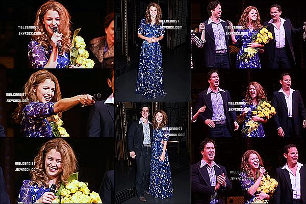 * 11/06/18 :    Melissa était présente à l'événement, « The Trevor Project TrevorLIVE » - se déroulant dans New York. Plus tard, Melissa donnait la première représentation de la comédie musicale The Carole King Musical à Broadway. Ses tenues sont jolies, donc des Tops  *