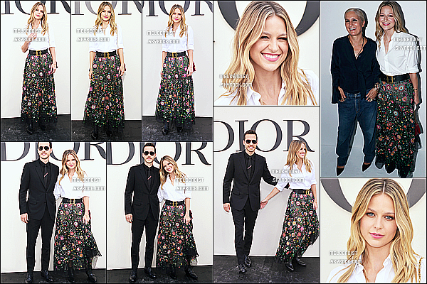* 24/09/18 :    Melissa B. a assisté au défilé de Christian Dior lors de la « Fashion Week » - qui se déroulait dans Paris. Melissa est ravissante et très souriante. Je suis complètement fan de sa coiffure et de son maquillage. Sa tenue est très jolie également. Un Top pour moi  *