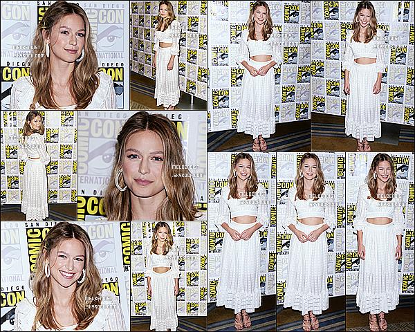 * 21/07/18 :    Melissa était présente lors du « Comic-Con » pour la série Supergirl au Hilton Bayfront - dans San Diego. Melissa est vraiment très belle. Je suis totalement fan de sa mise en beauté. La tenue qu'elle porte est jolie et lui va à merveille je trouve, un Top pour moi  *