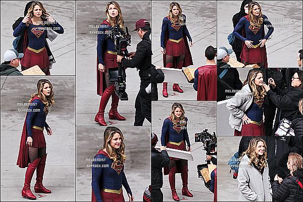 * 30/10/18 :    Melissa B. a été vue alors, qu'elle était encore sur le tournage de la série « Supergirl » - dans Vancouver. En ce moment Melissa enchaîne les tournages de la saison 4 de Supergirl. Elle est très belle. Elle porte une nouvelle fois son costume, c'est donc un Top  *