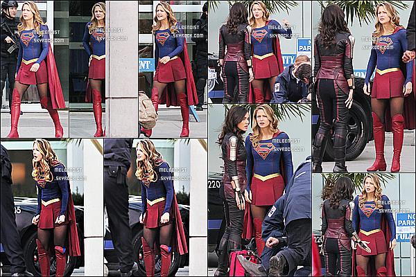 * 13/02/18 :    Melissa B. a été aperçue quand elle était sur le tournage de la saison 3 de « Supergirl » dans Vancouver. Melissa est belle. Elle est courageuse de tourner dans cette tenue car il à l'air de faire très froid, surtout au Canada. J'aime son costume. Un Top pour moi  *