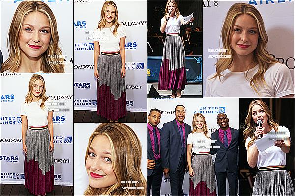 * 01/06/18 :    Melissa était présente à l'événement, « United Airlines Presents #StarsInTheAlley » - dans New York. Ca fait plaisir d'avoir un événement de Melissa. Elle est vraiment magnifique. J'aime beaucoup sa coiffure et son maquillage. Sa tenue est jolie aussi. Top  *